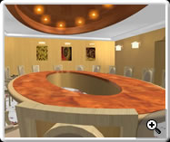 3D Interior Design- Meeting Hall