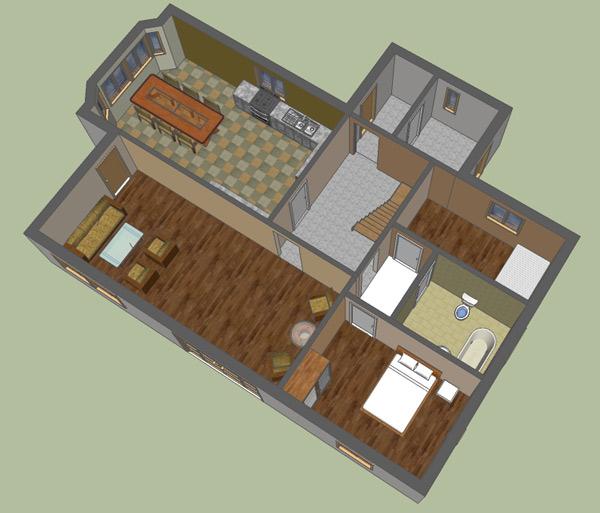 Google Sketchup   D Floor Plan   Google Sketchup DFloor Plan