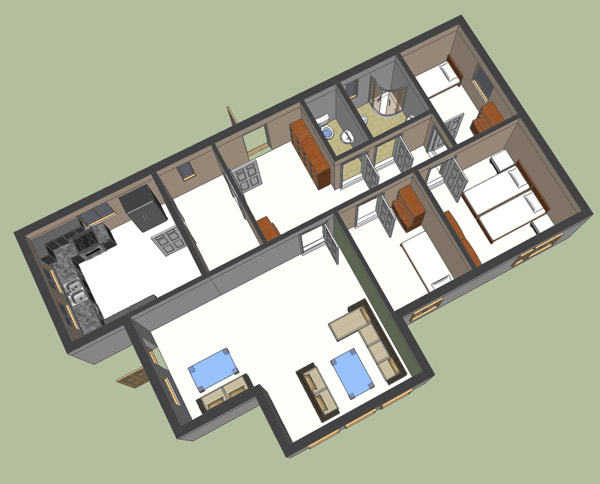 Google Sketchup   D Floor Plan   Google Sketchup DGround Floor Plan